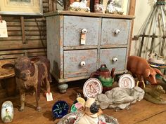 """18th Century French Four Drawer Cabinet With Original Paint   Hand Finished   23"""" Wide x 15"""" Deep x 21"""" High   $1300  Clutter Antiques 5015 Lovers Lane Dallas, TX 75209  Read more: http://dallas.ebayclassifieds.com/antiques/dallas/18th-century-french-four-drawer-cabinet-with-original-paint/?ad=43842665#ixzz44mivErUR"""