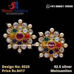 Alluring Polki studs with Moissanites and semi precious stones from Shree Ambica - Your Trusted Jewellers. Perfect pick for the upcoming festive/wedding season. Readily available in stock For Price and Details Message on - +919866110500 #ShreeAmbica #TrustedJewellers #SilverJewellery #indianbride #indianwedding #jewelryaddict #handcraftedjewellery #finejewellery #weddingsutra #jewelryforsale #jewelryswag #jewelrygoals Silver Jewellery, Fine Jewelry, Wedding Sutra, Jewellery Designs, Wedding Season, Handcrafted Jewelry, Festive, Studs, Messages