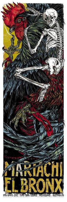 Studio Seppuku - The Art of Rhys Cooper Rooster Tattoo, Rooster Art, Rock Posters, Band Posters, Music Posters, Traditional Tattoo Arm, Movie Prints, Art Prints, Rhys Cooper