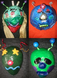 The Whiteboard Witch: Papier-mâché Masks from Outer Space - Part ...