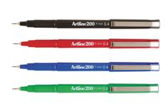 Ink pens in varying colours and sizes