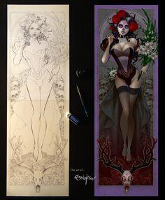 La Mujer De La Muerte by Franchesco.deviantart.com on @DeviantArt