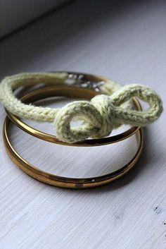 Strick - Armband mit Strickliesel