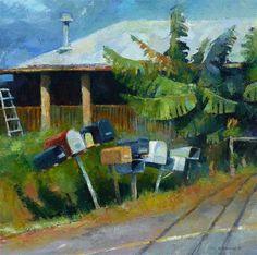 "Daily Paintworks - ""Upcountry Ways"" - Original Fine Art for Sale - © Katya Minkina"