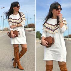 Vestido primavera - Temporada: Primavera-Verano - Tags: look, ootd, boho, fashion, moda, blogger - Descripción: Look primavera con vestido boho #FashionOlé