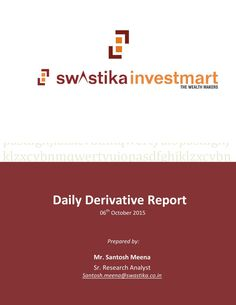 Daily derivative report for 06th oct 2015