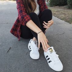 Flannel Season to Fell Fantastic by Ivy Le From Santa Barbara, California Feel Fantastic, Adidas Superstar, Pretty Woman, Flannel, Adidas Sneakers, Cute Outfits, Girly, Seasons, My Style