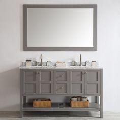 "Simmons 60"" Double Bathroom Vanity Set with Mirror"