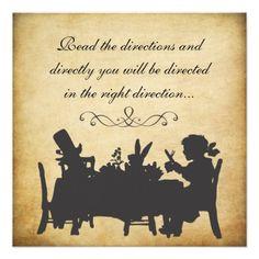 Vintage Alice in Wonderland Tea Party Birthday Personalized Invites