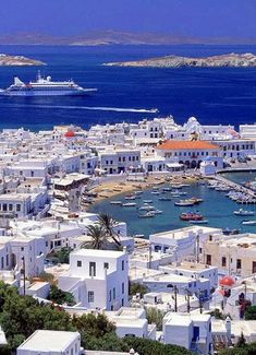 Mykonos, Greece. Ever since watching the Sisterhood of the Traveling Pants I have wanted to go to Greece