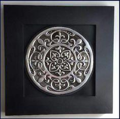 Mandalas Aluminum Foil Art, Aluminum Cans, Metal Art Projects, Metal Crafts, Diy Crafts, Pewter Art, Pewter Metal, Metal Embossing, Silhouette Curio