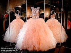 Blush Ball Gown-Quinceanera-High Neckline-Keyhole Back-Lace up Back-115ML0890410