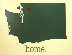State Silhouette Wood Sign with Typewriter-style Home by CollieWoodProduction on Etsy