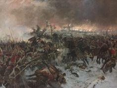 Battaille de Eylau 8 fevrier 1807 ~ the massed French Heavy cavalry crash into the Russian Pavlovsky Grenadiers. Military Ranks, Military Art, Military History, Military Uniforms, Military Fashion, Le Colonel Chabert, First French Empire, Seven Years' War, Historical Art