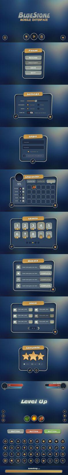 BlueStone Mobile UI - http://evilsystem.eu/assetstore/asset/BlueStone_Mobile_UI/