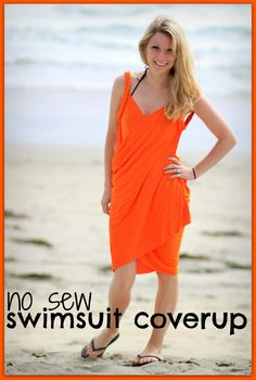 watch out for the woestmans: No Sew Easy Swimsuit Cover Up Tutorial DIY