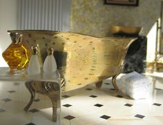 Luxurious Gold Bathroom in Miniature | Flickr - Photo Sharing!
