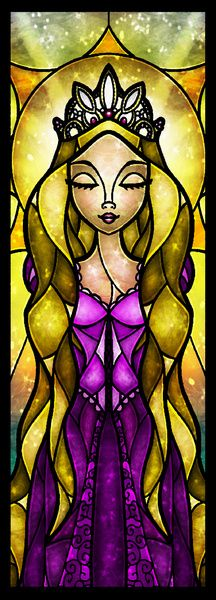 The Lost Princess Rapunzel (Stained Glass)