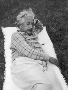 Oh, just Albert Einstein...chillin'. Nothing to see here.