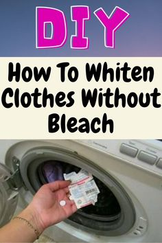 Homemade Cleaning Products, Household Cleaning Tips, Cleaning Recipes, House Cleaning Tips, Natural Cleaning Products, Cleaning Hacks, How To Whiten Clothes, Laundry Hacks, Laundry Rooms