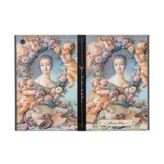 Madame de Pompadour François Boucher rococo lady Cases For iPad Mini #madame #pompadour #pastel #portrait #boucher #Paris #France #classic #art #custom #gift #lady #woman #girl