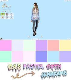 Jenni Sims: Pastel Goth CAS Screens (12 Cas background) • Sims 4 Downloads