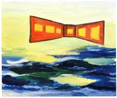 René Daniëls, De Slag om de Twintigste Eeuw (Battle for the twentieth Century), 1984  Oil on canvas   100x120cm   © the artist   Courtesy of ABN AMRO collection