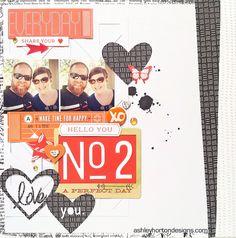 #papercraft #scrapbook #layout. Ashley Horton