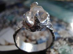 Herkimer Diamond Ring  Sterling Silver Ring  Diamond by K911STUDIO, $57.00