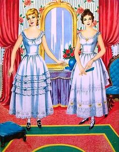 Sharon's Sunlit Memories: Saalfield American Colonial Paper Dolls