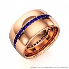 Eternity Ring by Helmut Burger for Colors of Eden #customizable #jewelry #redgold #tanzanite