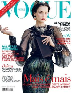 Cover: Patrycja Gardygajlo by Marcin Tyszka for Vogue Portugal September 2012 Vogue Covers, Vogue Magazine Covers, Fashion Magazine Cover, Fashion Cover, Brooke Shields, Kate Moss, Lgbt, Vogue Portugal, Sophisticated Hairstyles