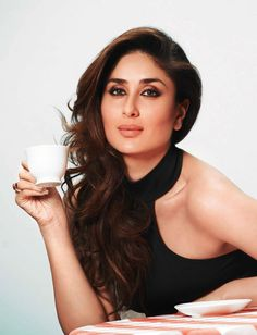 Kareena Kapoor with her cup of Tea