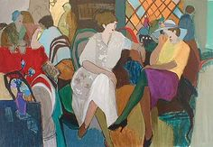 Cafe de Paris (38x50 serigraph)view more by Itzchak Tarkay