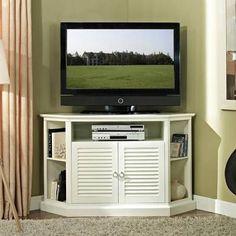 "Walker Edison Black Corner TV Stand for TVs up to 55"", Muliple Colors"
