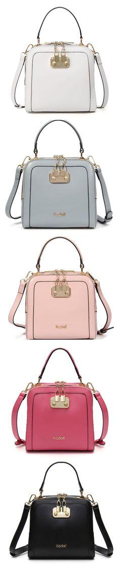 Kadell PU Leather Candy Color Handbag Shoulder Bag Crossbody Bags For Women