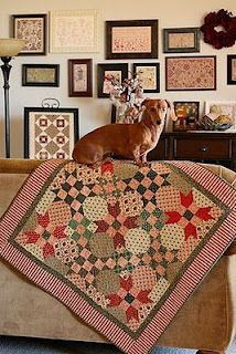 """My name is """"No, No Bad Dog."""" What's yours? Small Quilts, Mini Quilts, Scrappy Quilts, Quilting Projects, Quilting Designs, Quilting Ideas, Nine Patch Quilt, Quilt Display, Miniature Quilts"""
