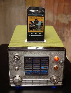 ipod iphone charging station from vintage cb radio by Relectronics, $195.00
