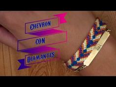 Pulsera de Hilo: Chevron con Diamantes