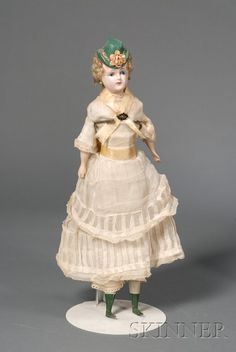 Hatted Wax Over Composition Shoulder Head Lady Doll | Sale Number 2447, Lot Number 535 | Skinner Auctioneers