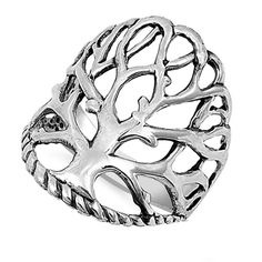 Women's Tree of Life Cute Ring New 925 Sterling Silver Bali Rope Band Sizes 4-13 #SacSilver #Ring-$16.29