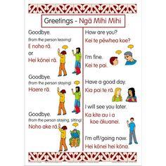 Greetings Bilingual Chart Set | Te Reo Maori Resources