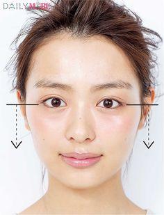 驚きの小顔をゲットできる、別人級「セルフコルギ」のやり方を紹介している。強い圧をかけるため、手のひらの骨部分を顔の骨にきちんと当てることを意識。骨に対して垂直に一定方向のみに力を入れ、皮膚の下の骨にアプローチする