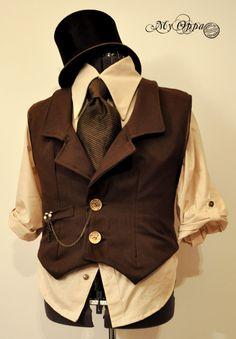 steampunk costume for man by myoppa-creation.deviantart.com on @DeviantArt