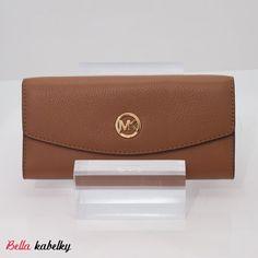 Michael Kors peňaženka - Fulton slim flap wallet, luggage