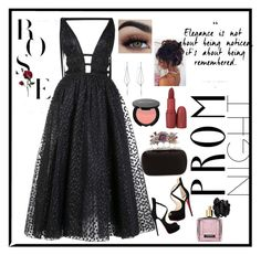 untitled #5 by dinda-ria-zafira on Polyvore featuring polyvore, fashion, style, Carolina Herrera, Christian Louboutin, Alexander McQueen, Diane Kordas, Victoria's Secret and clothing