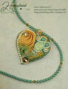 Ribbon Jewelry, Bead Embroidery Jewelry, Soutache Jewelry, Silk Ribbon Embroidery, Fabric Jewelry, Jewelry Art, Beaded Jewelry, Handmade Jewelry, Jewelry Design