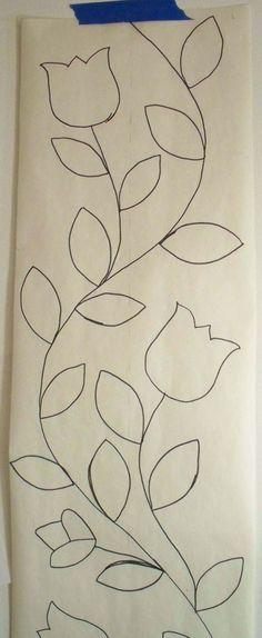 Esch House Quilts: January 2012.  Nice design for applique border.: