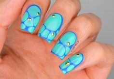 NAILS| The Turquoise Stone Blobbicure