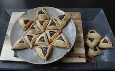 This hamantasch cookie probably originated in central Europe. However, it has become a traditional Jewish cookie baked for the feast of Purim which celebrates the defeat of the Persian king Haman, I used a classic poppy seed filling.